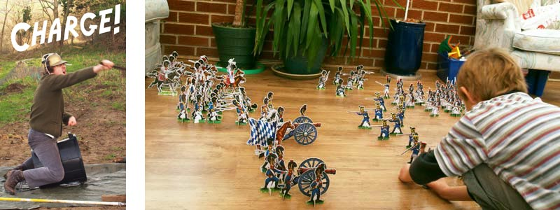 a floor full of toy soldiers